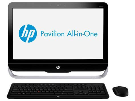 Моноблок HP Pavilion 23-b100er, Intel Celeron G1610, 2Гб, 500Гб, nVIDIA GeForce 610M - 1024 Мб, DVD-RW, Ubuntu, черный и серебристый [d2m73ea]