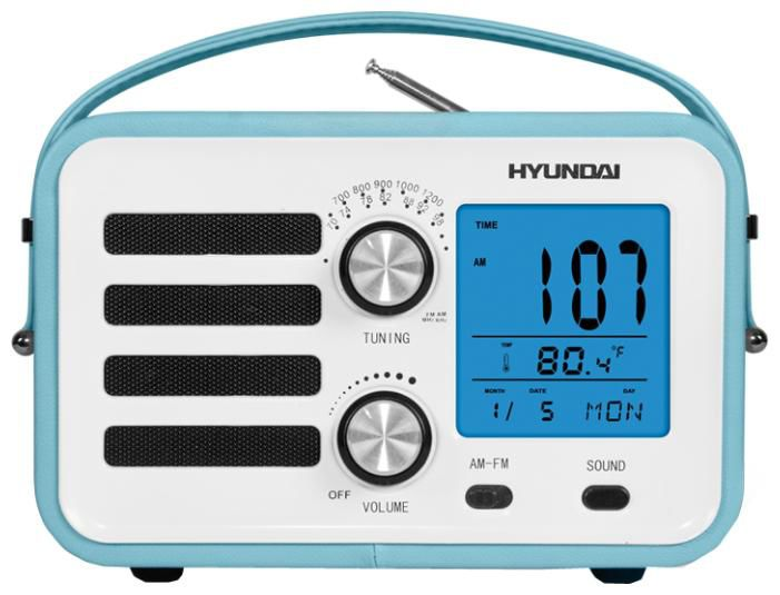 Радиоприемник HYUNDAI H-1628,  голубая кожа