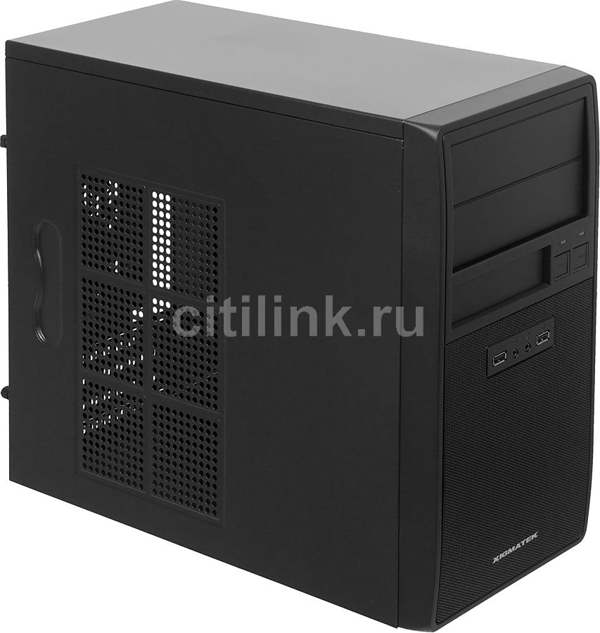 Корпус mATX XIGMATEK Helios XTK231, Mini-Tower, без БП,  черный