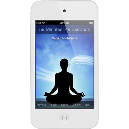 MP3 плеер APPLE iPod Touch 4 flash 16Гб белый [me179rp/a]