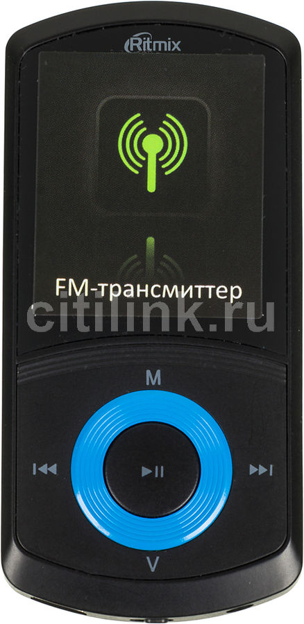 MP3 плеер RITMIX RF-4700 flash 4Гб синий [15114887]