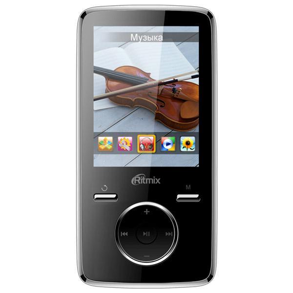 MP3 плеер RITMIX RF-7650 flash 4Гб черный [51000622]