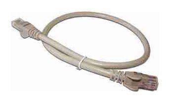 Кабель Патч-корд LANMASTER UTP,  вилка RJ-45,  вилка RJ-45,  кат.6,  ПВХ,  0.5м,  серый [lan6-45-45-0.5-gy]