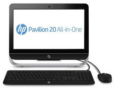 Моноблок HP Pavilion 20-b100er, AMD E1 1200, 2Гб, 500Гб, AMD Radeon HD 7310, DVD-RW, Ubuntu, черный и серый [d2m69ea]