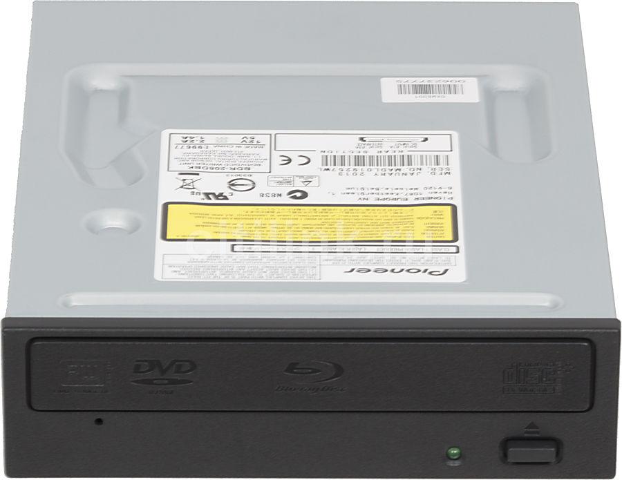Оптический привод Blu-Ray PIONEER BDR-208DBK, внутренний, SATA, черный,  OEM