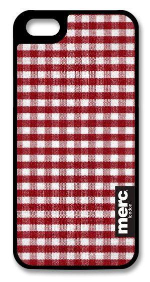 Чехол (клип-кейс) MERC Fabric (A-P50HF-F03027), для Apple iPhone 5, красный