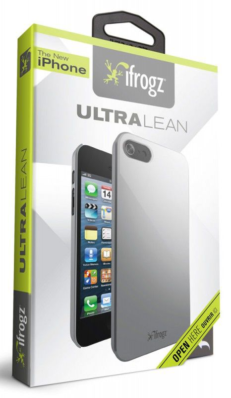 Чехол (клип-кейс) IFROGZ Ultra Lean (IP5UL-SLV), для Apple iPhone 5, серебристый
