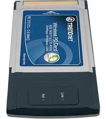 Сетевой адаптер WiFi TRENDNET TEW-421PC PCMCIA CardBus Type II