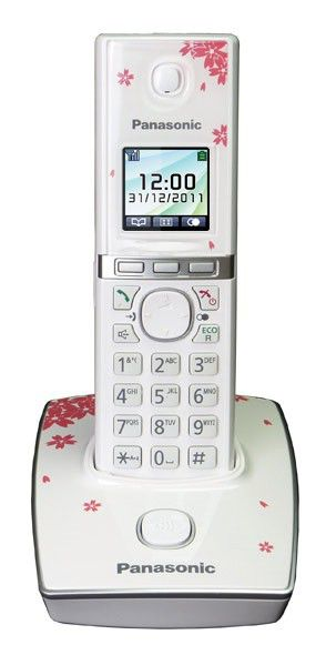 Радиотелефон PANASONIC KX-TG8051RU1,  белый