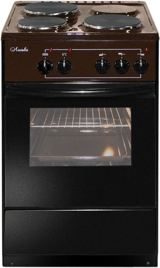 Электрическая плита ЛЫСЬВА ЭП 301,  эмаль,  коричневый [эп 301 brown]