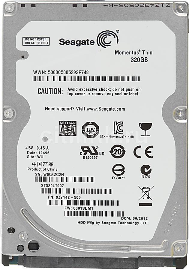 Жесткий диск SEAGATE Momentus Thin ST320LT007,  320Гб,  HDD,  SATA II,  2.5