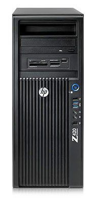 Рабочая станция  HP Z420,  Intel  Xeon  E5-1660,  DDR3 16Гб, 1000Гб,  256Гб(SSD),  AMD FirePro V7900 - 2048 Мб,  DVD-RW,  CR,  Windows 7 Professional,  черный
