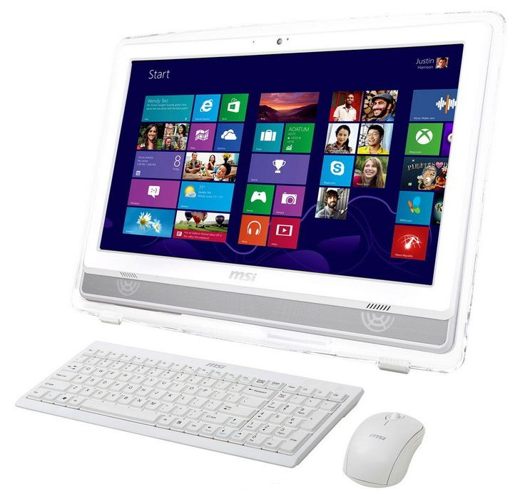 Моноблок MSI AE2282G-022, Intel Core i3 3220, 4Гб, 1000Гб, nVIDIA GeForce GT630M - 2048 Мб, DVD-RW, Windows 8, белый [9s6-ac7c12-022]