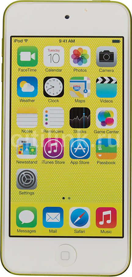 MP3 плеер APPLE iPod touch 5 flash 64Гб желтый/белый [md715ru/a]
