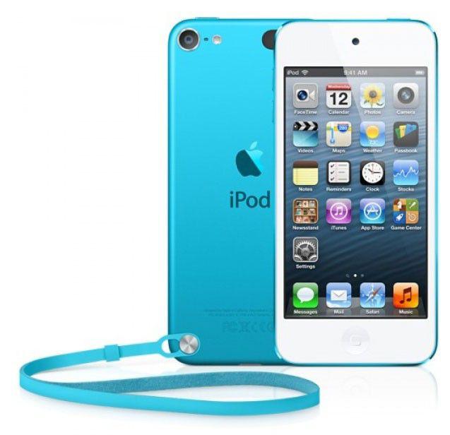 MP3 плеер APPLE iPod touch 5 flash 32Гб голубой [md717rp/a]