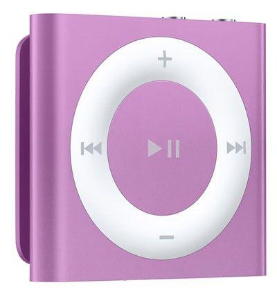 MP3 плеер APPLE iPod shuffle 4 flash 2Гб фиолетовый/белый [md777ru/a]