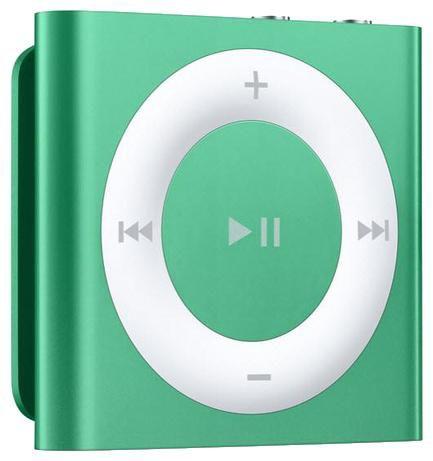 MP3 плеер APPLE iPod shuffle flash 2Гб зеленый/белый [md774rp/a]
