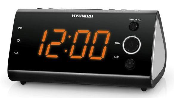Радиобудильник HYUNDAI H-1551, оранжевая подсветка,  черный