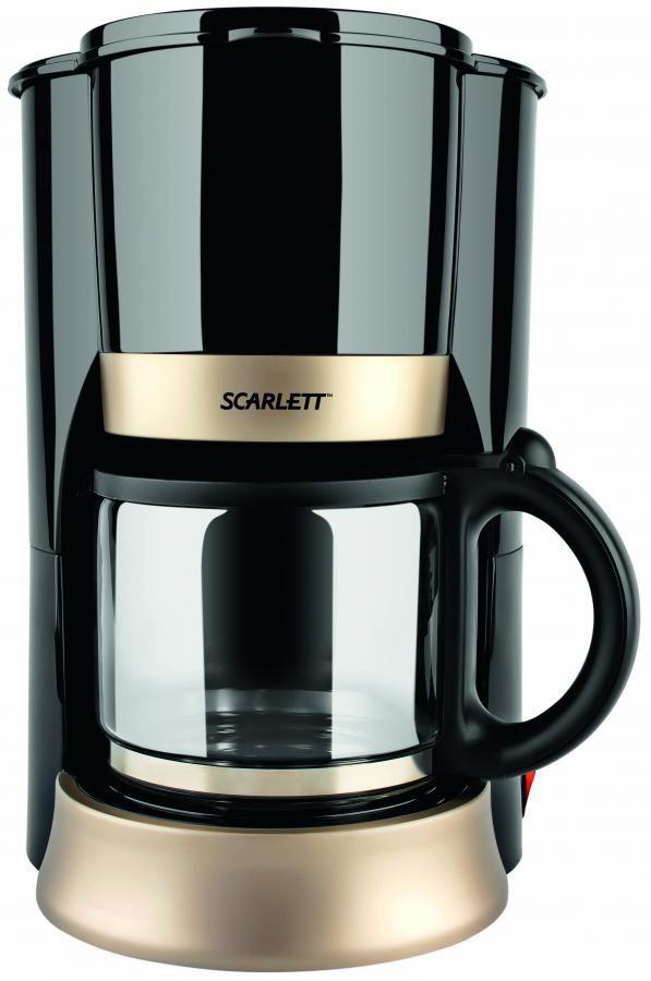 Кофеварка SCARLETT SC-032,  капельная,  черный [sc032]