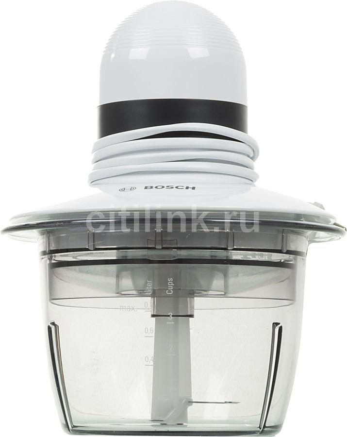 Измельчитель электрический Bosch MMR08A1 0.8л. 400Вт белый/черный