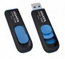 Флешка USB A-DATA DashDrive UV128 8Гб, USB3.0, черный и желтый [auv128-8g-rby]