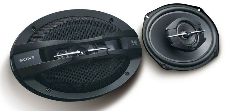 Колонки автомобильные SONY XS-GT6938F,  коаксиальные,  420Вт