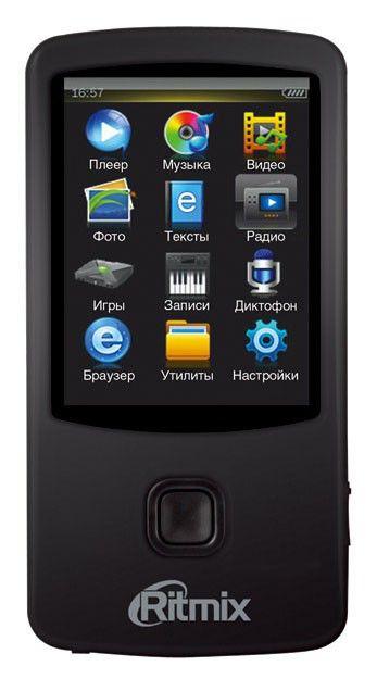 MP3 плеер RITMIX RF-7100 flash 8Гб черный