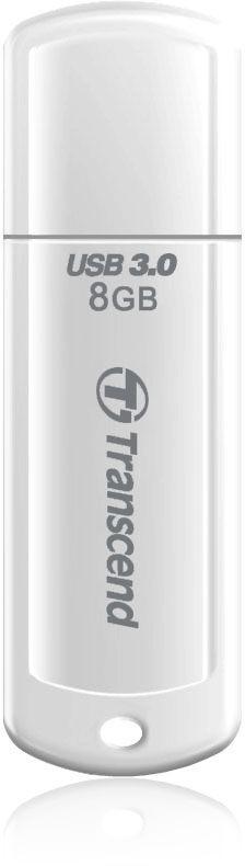 Флешка USB TRANSCEND Jetflash 730 8Гб, USB3.0, белый [ts8gjf730]