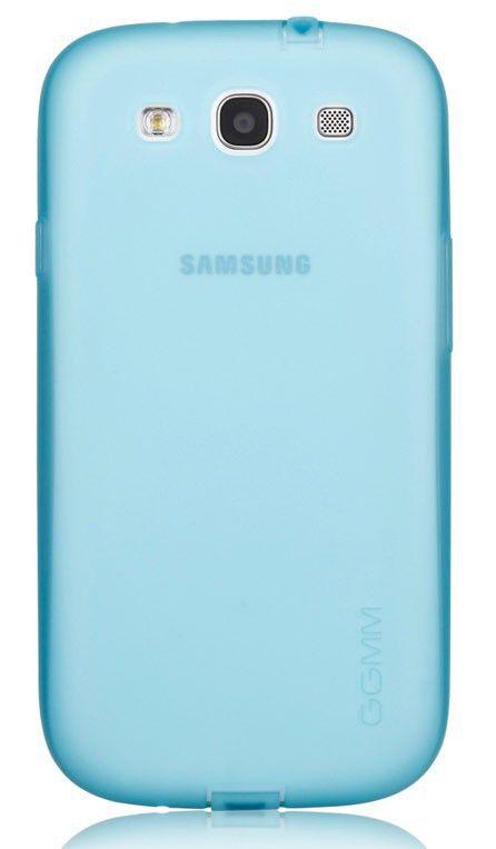 Чехол (клип-кейс) GGMM Pure-S, для Samsung Galaxy S III, голубой [sx00502]