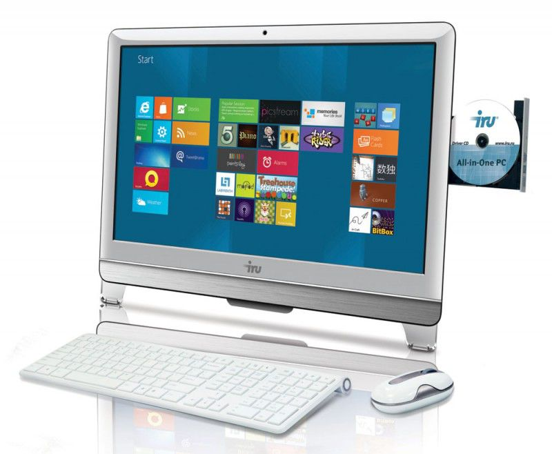 Моноблок IRU AIO 308, Intel Core i5 3470, 4Гб, 1000Гб, Intel HD Graphics 2500, DVD-RW, Windows 7 Professional, белый