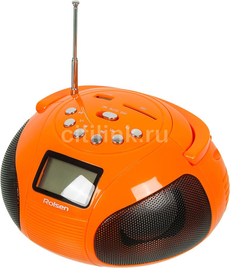 Аудиомагнитола ROLSEN RBM411OR,  оранжевый