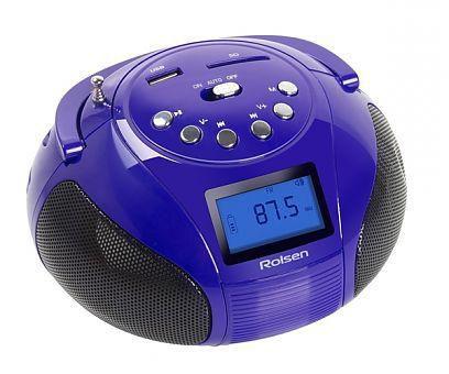 Аудиомагнитола ROLSEN RBM411VI,  фиолетовый