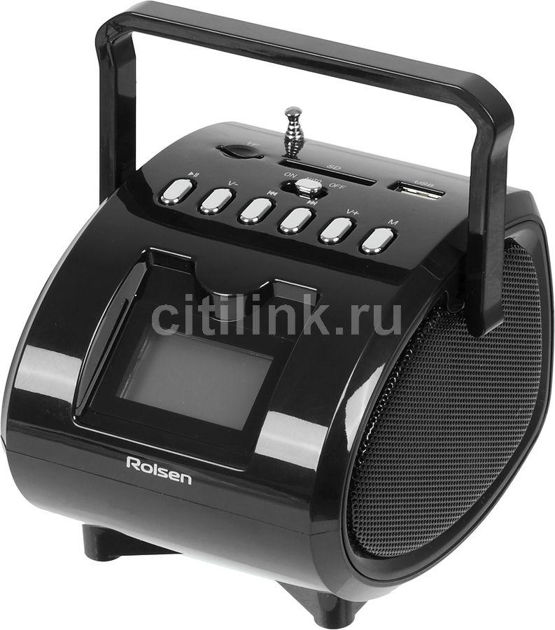 Аудиомагнитола ROLSEN RBM412BL,  черный