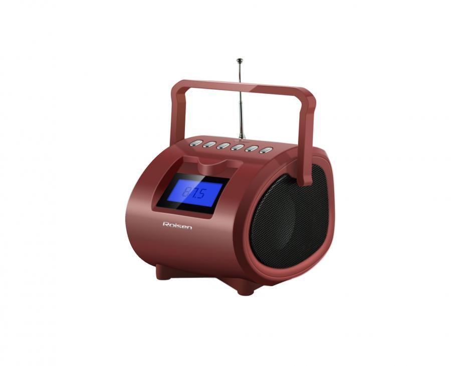 Аудиомагнитола ROLSEN RBM412BR,  коричневый