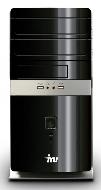 Компьютер  IRU Home 310,  Intel  Pentium  G2130,  DDR3 4Гб, 500Гб,  AMD Radeon HD 6670 - 2048 Мб,  DVD-RW,  CR,  Windows 8,  черный