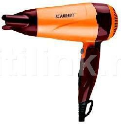 Фен SCARLETT SC-1070, 1600Вт, коричневый