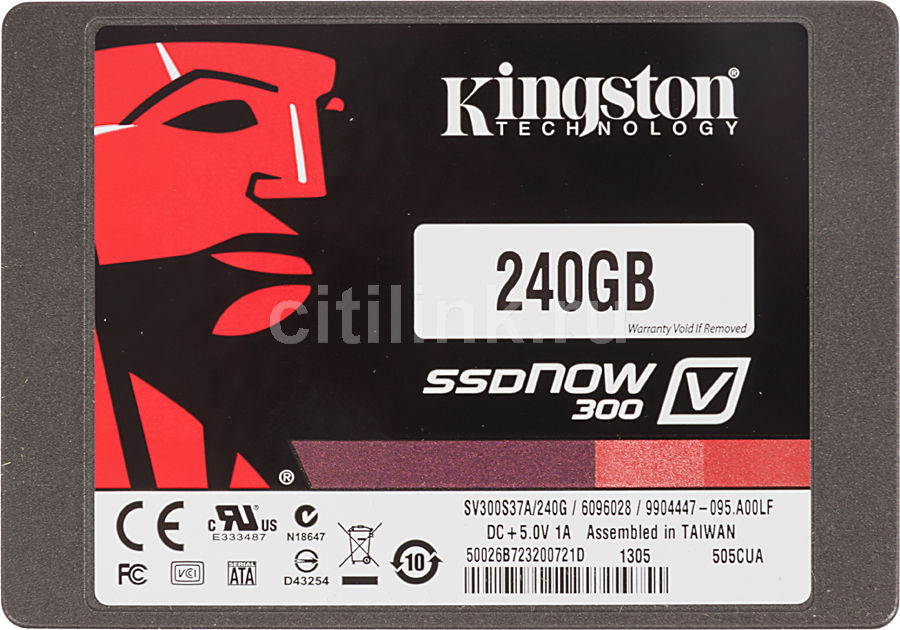 "Накопитель SSD KINGSTON V300 SV300S3N7A/240G 240Гб, 2.5"", SATA III"