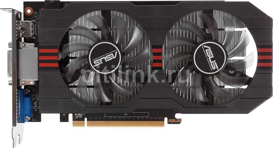 Видеокарта ASUS GeForce GTX 650Ti,  2Гб, GDDR5, OC,  Ret [gtx650ti-oc-2gd5]