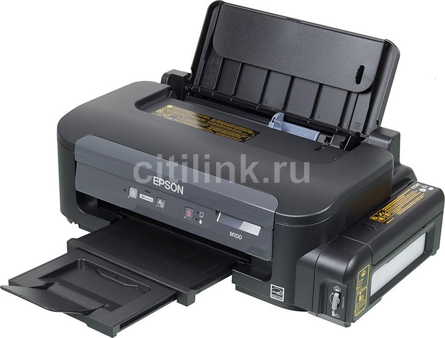 Принтер струйный EPSON M100,  струйный, цвет: черный [c11cc84311]