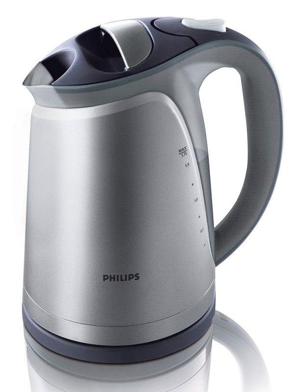 Чайник электрический PHILIPS HD4681/53, 2400Вт, серебристый и черный