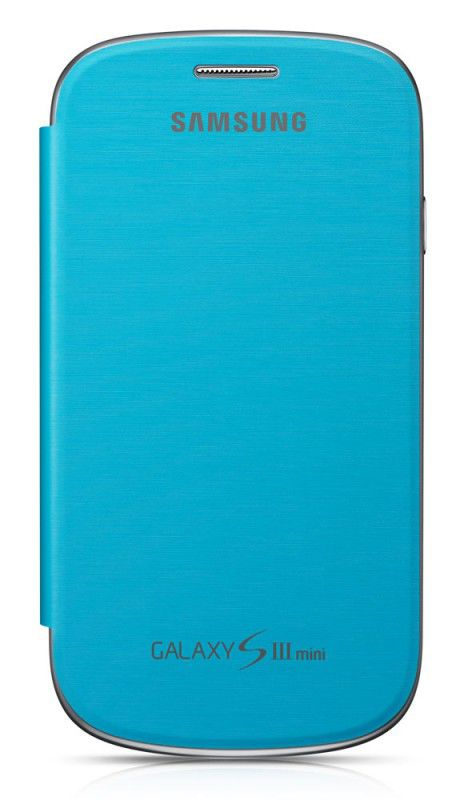 Чехол (флип-кейс) SAMSUNG EFC-1M7FLE, для Samsung Galaxy S III mini, голубой [efc-1m7flegstd]
