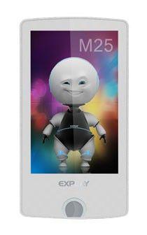 MP3 плеер EXPLAY M25 flash 4Гб белый [4000746]