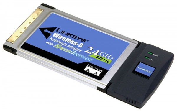 Сетевой адаптер WiFi LINKSYS WPC54GS-EU PCMCIA