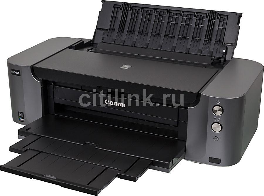 Принтер CANON PIXMA PRO-100,  струйный, цвет: черный [6228b009]