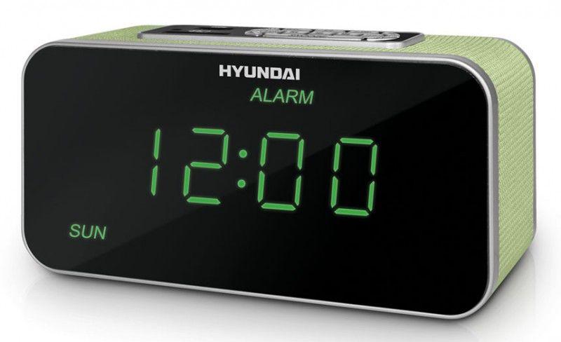 Радиобудильник HYUNDAI H-1503U, зеленая подсветка,  зеленый