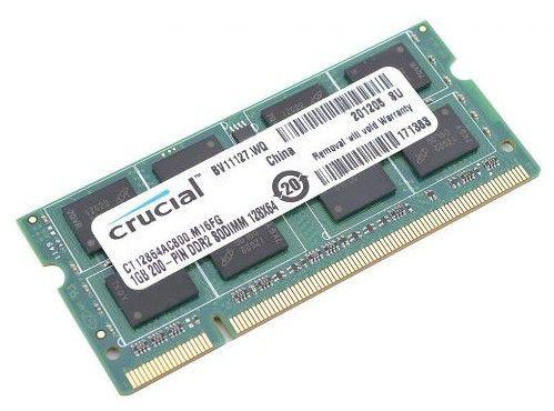 Модуль памяти CRUCIAL ST51264BC1339 Spectek DDR3 -  4Гб 1333, SO-DIMM,  OEM