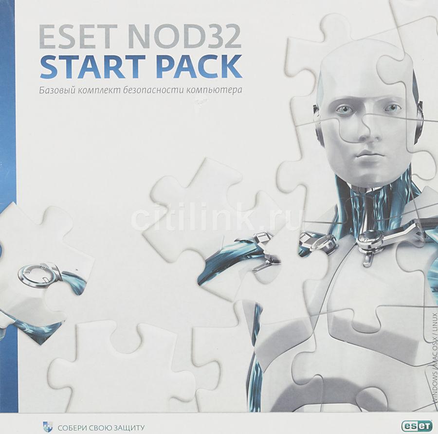 Базовая лицензия Eset NOD32 START PACK- базовый комплект безопасности ПК 1 ПК 1 год Box (NOD32-ASP-N