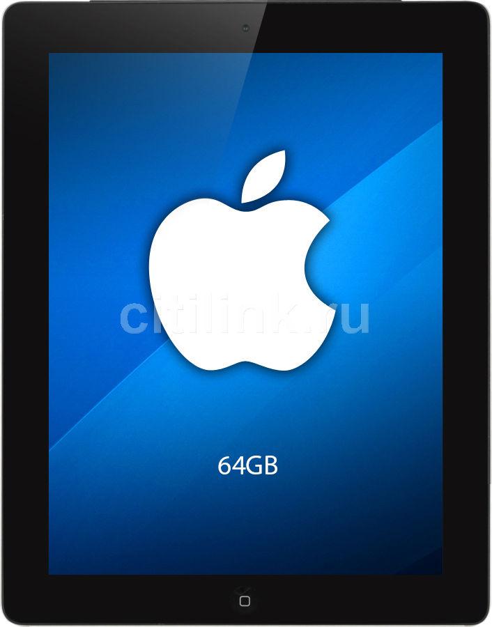Планшет APPLE iPad 4 64Gb Wi-Fi + Cellular MD524RS/A,  1GB, 64GB, 3G,  4G,  iOS черный