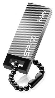 Флешка USB SILICON POWER Touch 835 64Гб, USB2.0, серый [sp064gbuf2835v1t]