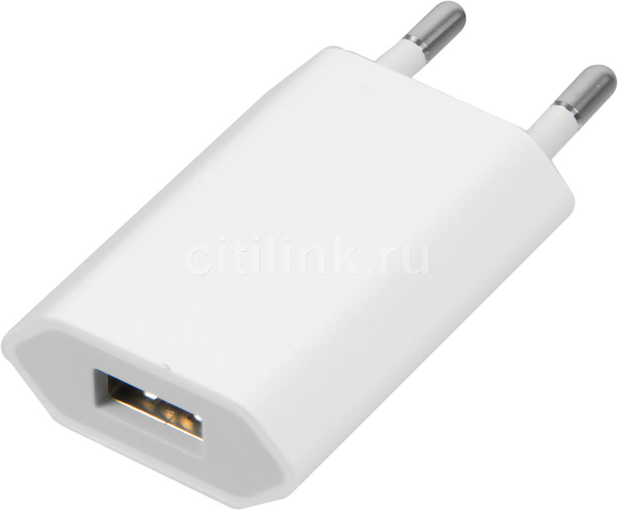 Сетевое зарядное устройство APPLE MD813ZM/A, USB, белый 5 port usb eu plug power charger adapter for iphone 5 ipad mini more white